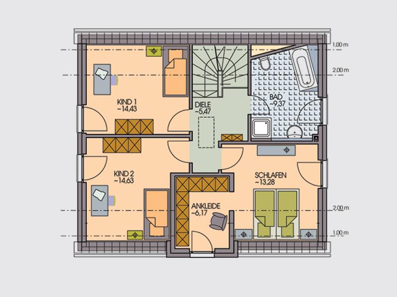 einfamilienhaus mozart eckverglasung und zwerchgiebel klebl hausbau. Black Bedroom Furniture Sets. Home Design Ideas