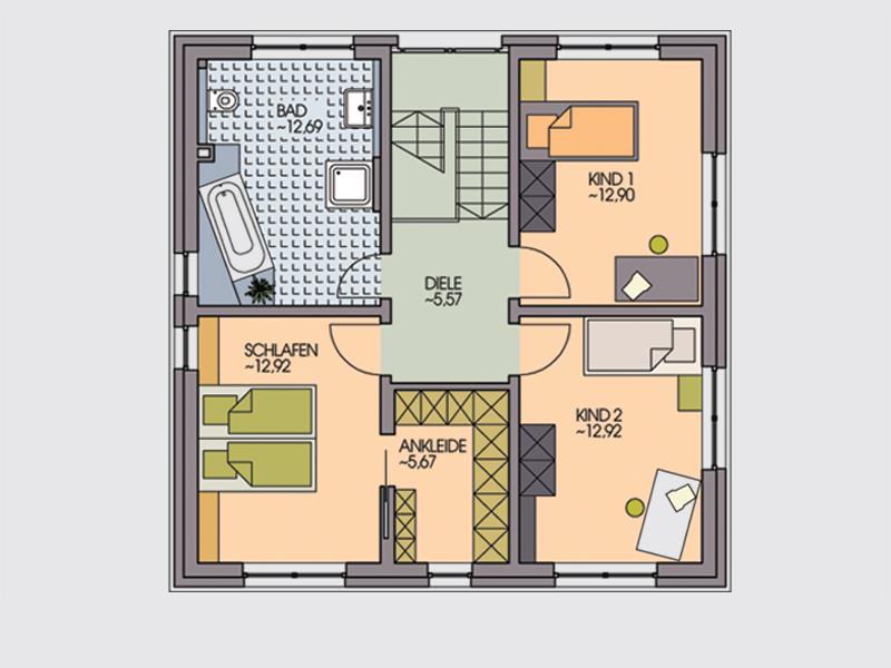 einfamilienhaus corelli offenes wohnen mit viel glas im erdgeschoss klebl hausbau. Black Bedroom Furniture Sets. Home Design Ideas